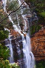 Wentworth Falls from under Cliff Trail